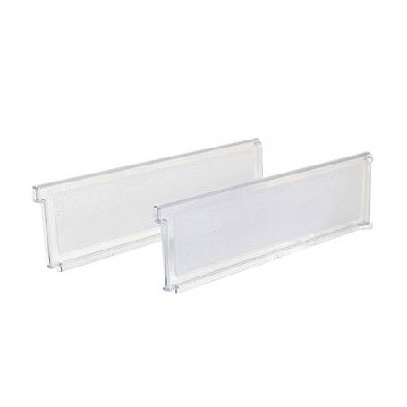 Elfa Shelf Basket Dividers 42cm Clear