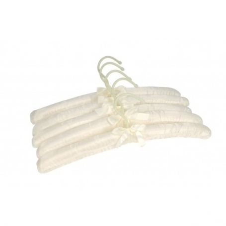 Coat Hanger White Satin 5 Pack