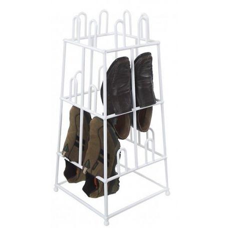 Shoe Rack PVC 12 Pair White
