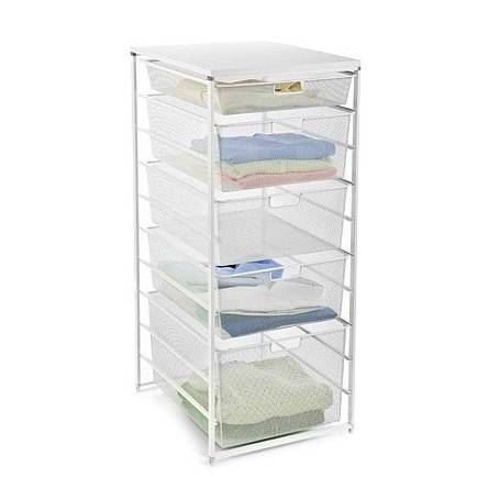 Elfa Drawer Set 45 Series 10 Runner White Mesh