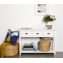 White Console Table with Drawers