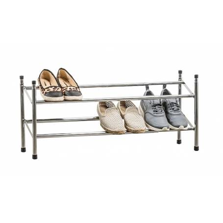 Shoe Rack 2 Tier Chrome Expanding