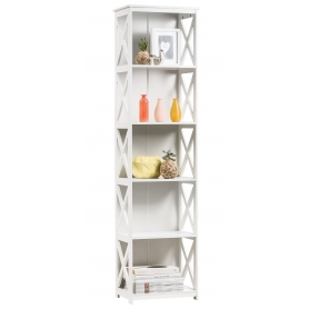 White 5 Tier Cross Shelf