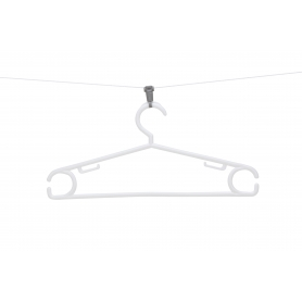 Coathanger with Clothesline Clip 5 Pack