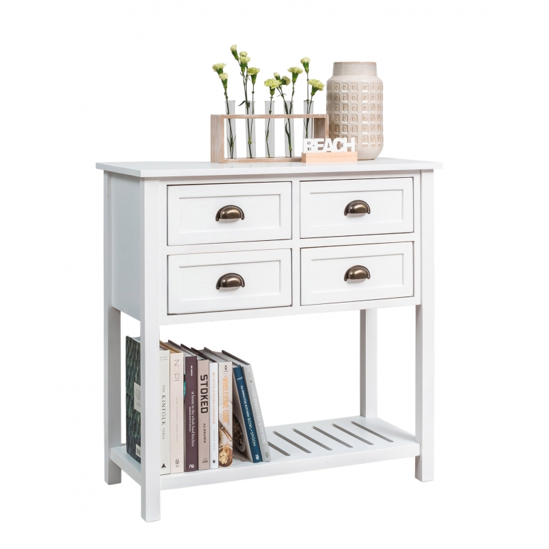 White Console Table From Storage Box