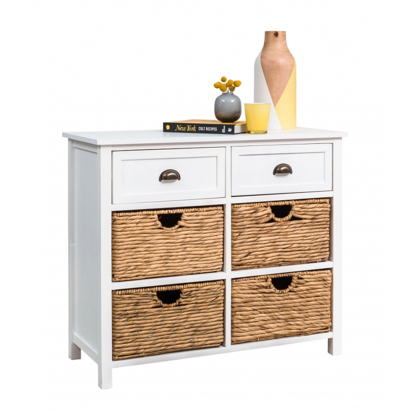 White Cabinet with Drawers/Baskets