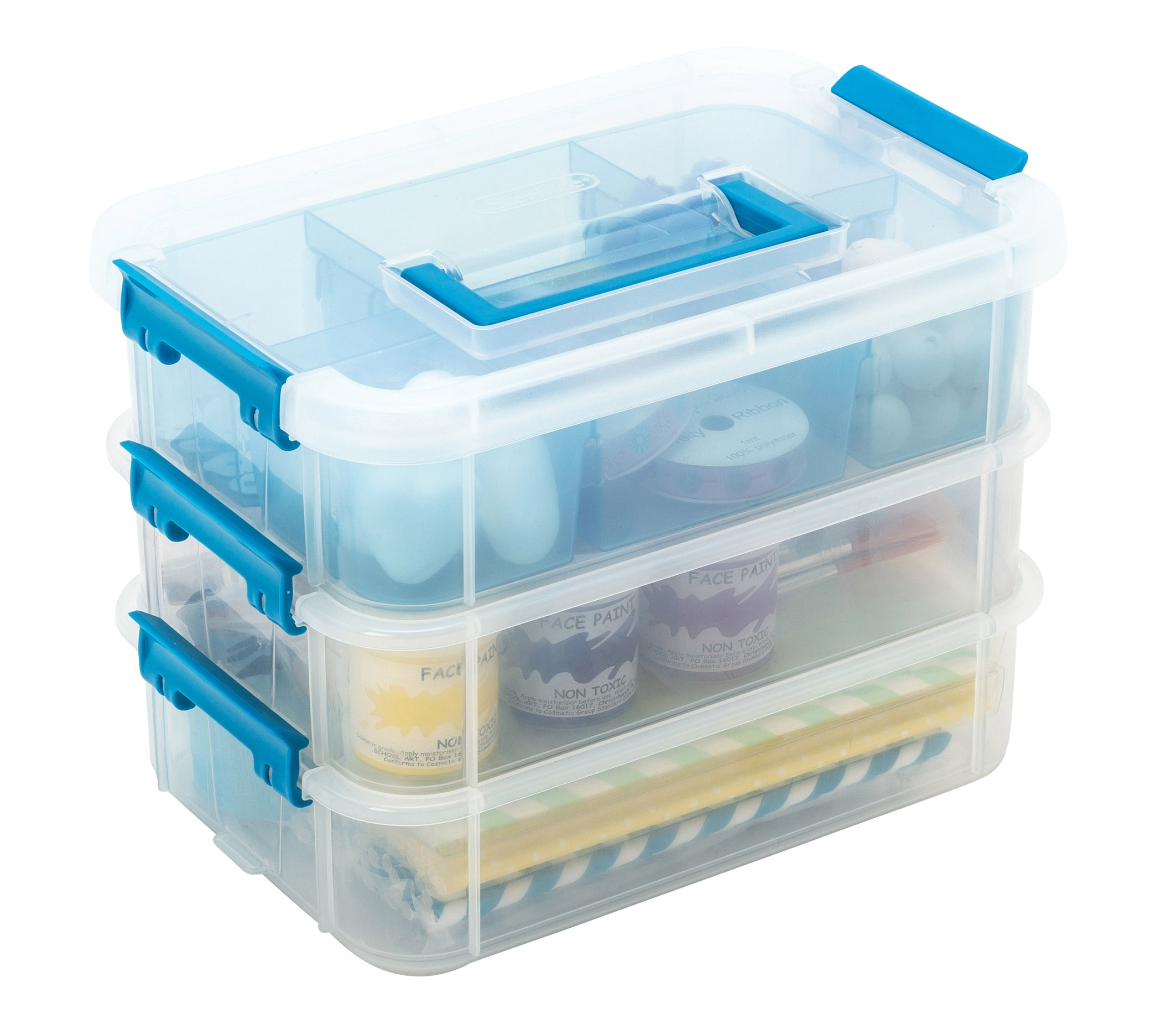 Sterilite Stack And Carry Box 3 Tier From Storage Box