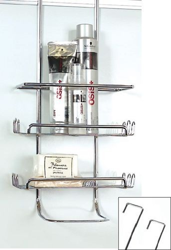 Shower Caddy Chrome Over Wall Or Door From Storage Box