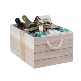 Natural Wooden Crate Medium
