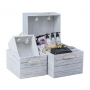White Wash Wooden Crate Xtra Large