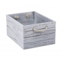 Crate Wooden White Wash Large