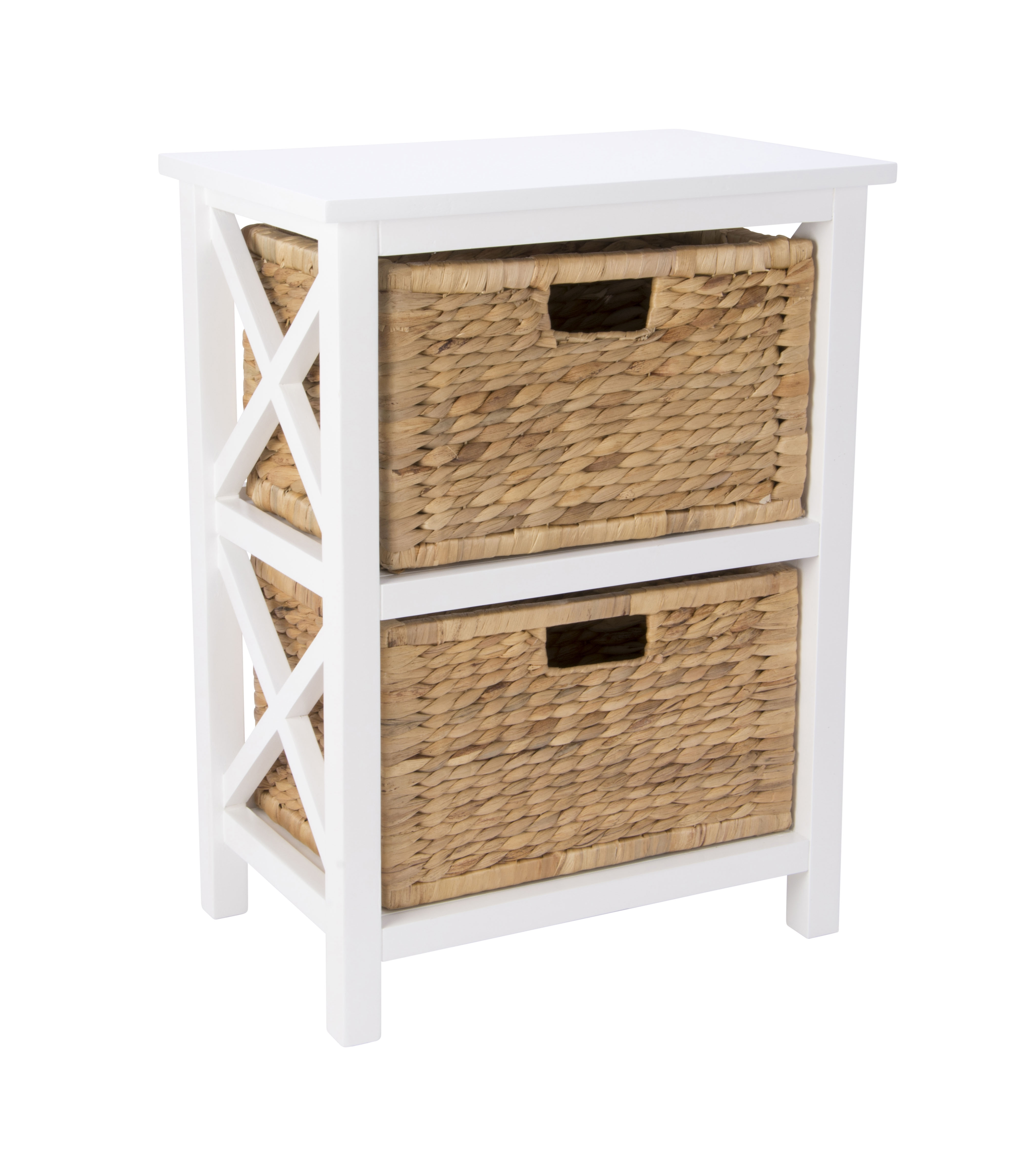 stella shelf 2 tier with hyacinth baskets from storage box. Black Bedroom Furniture Sets. Home Design Ideas