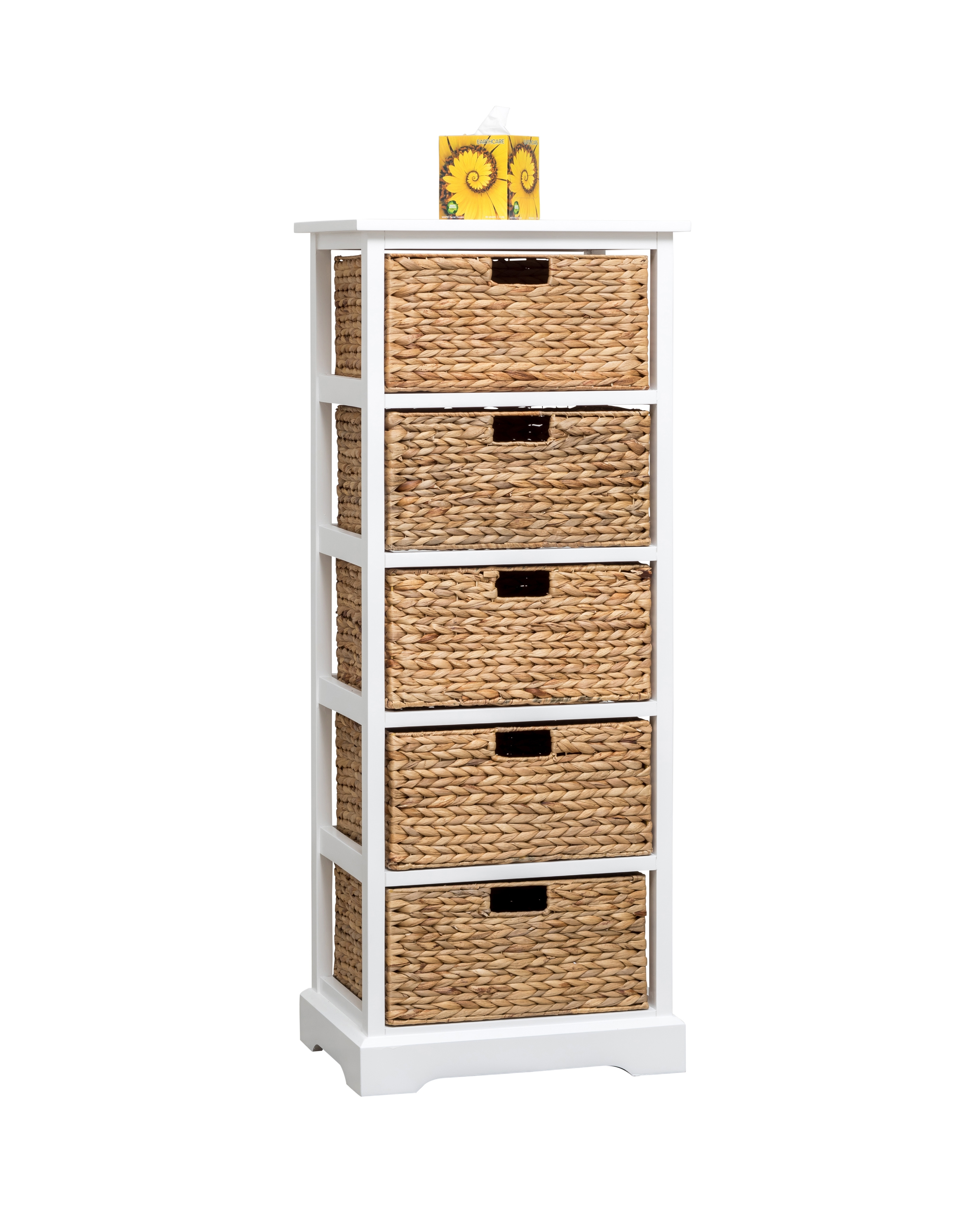 White Cabinet With 5 Baskets From Storage Box
