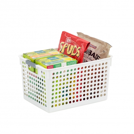 Basket White With Handles
