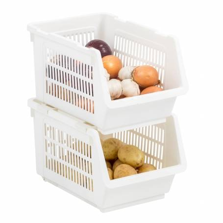 Stacking Basket White