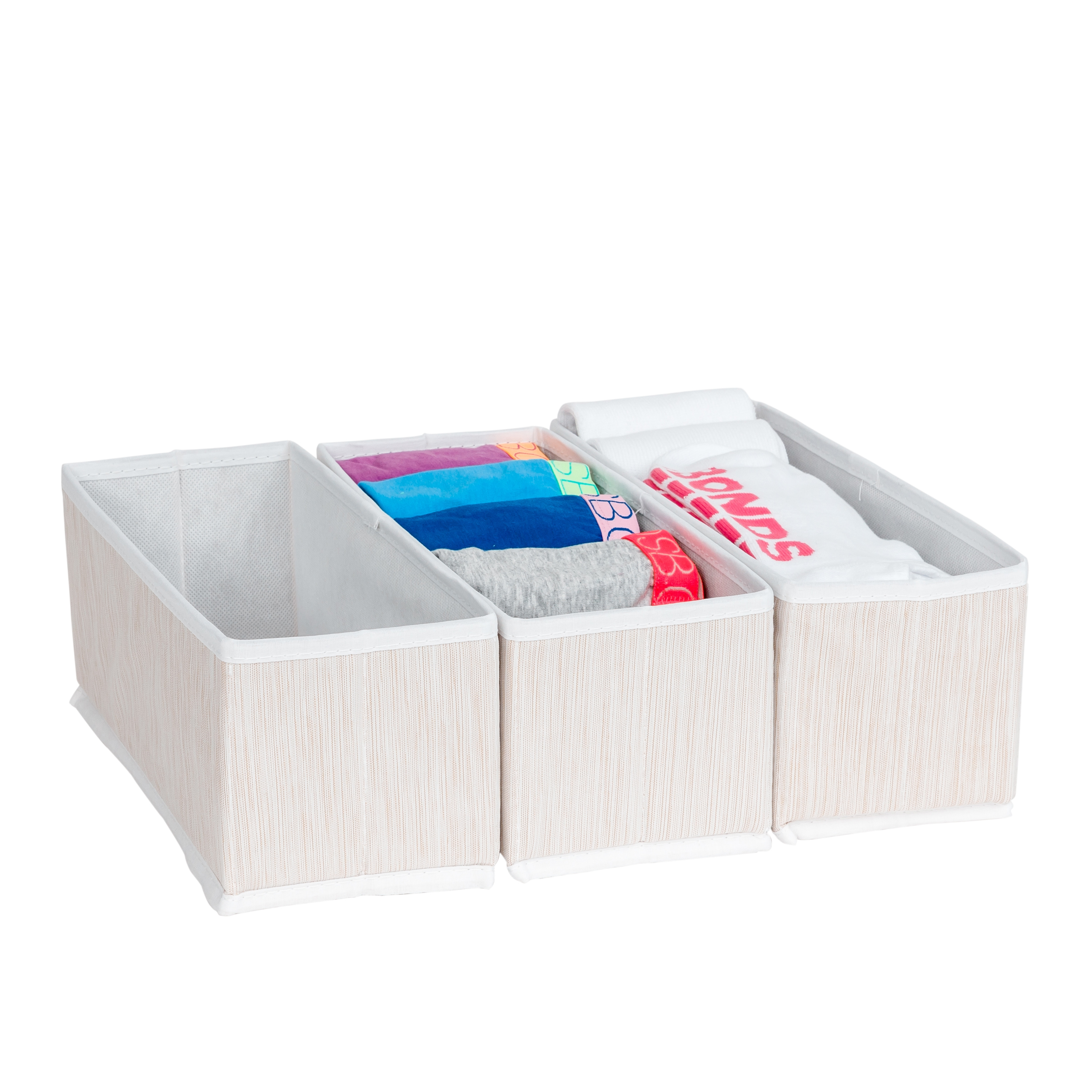 Fabric Drawer Organiser Set 3 From Storage Box
