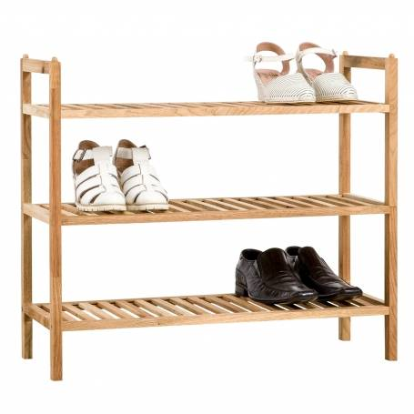 Walnut 3 Tier Shoe Rack
