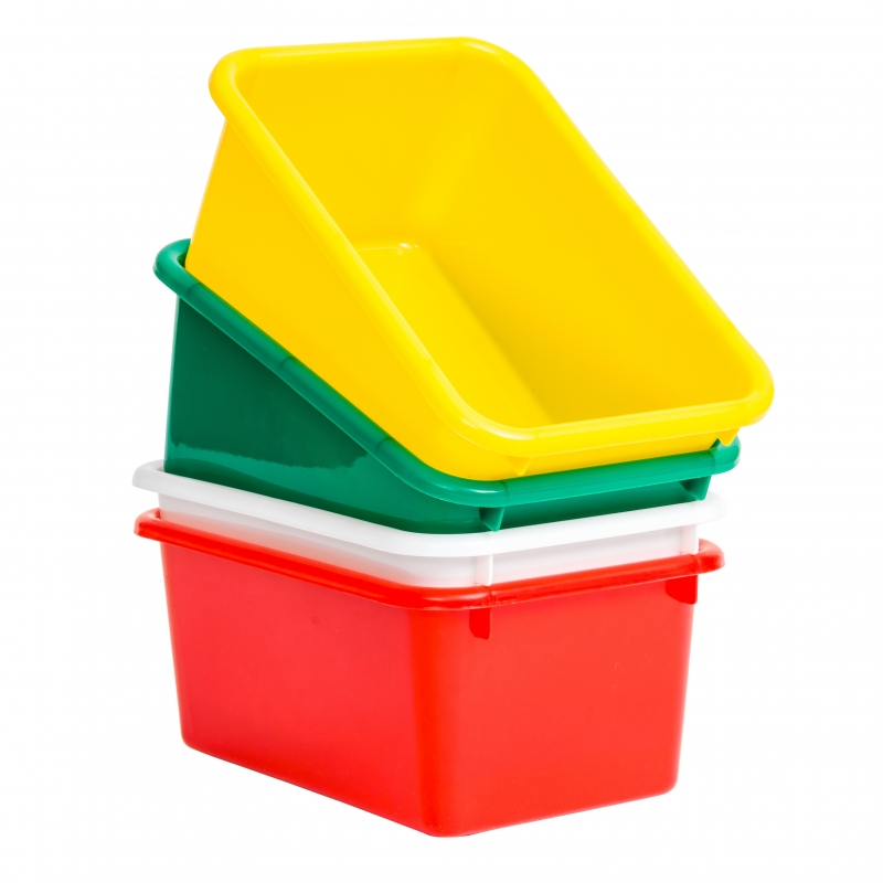 Storage Box 25x20x12cm Plastic Assorted Colours