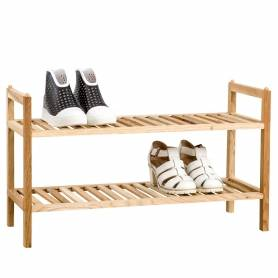 Walnut 2 Tier Shoe Rack
