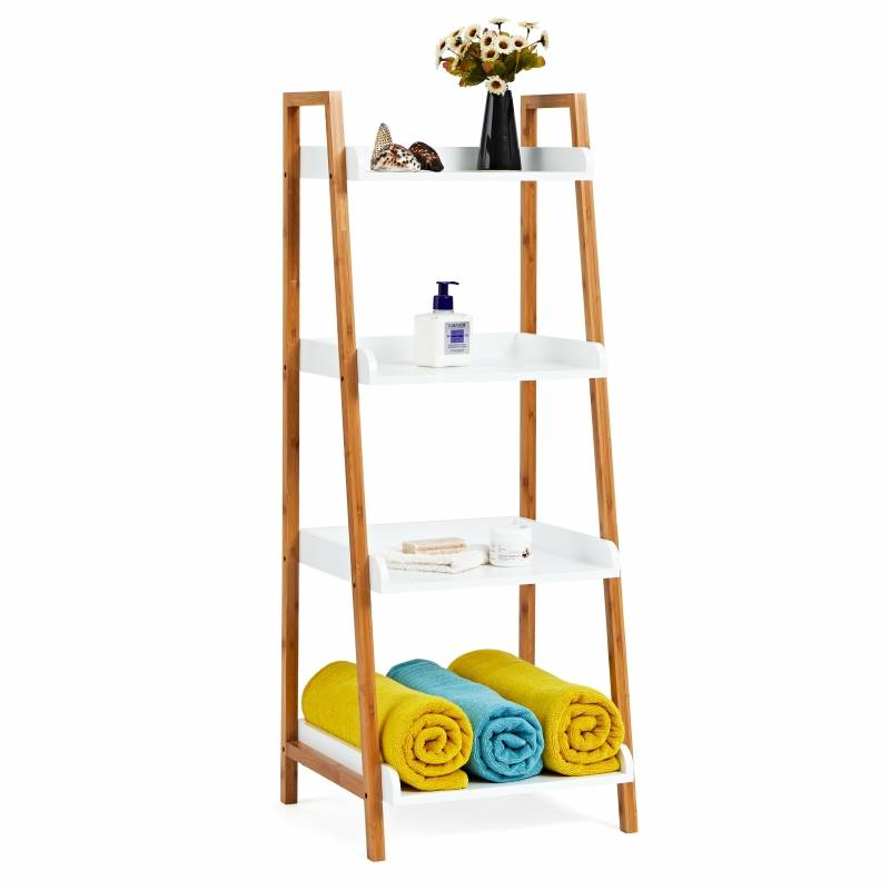A Frame Bamboo 4 Tier Shelf
