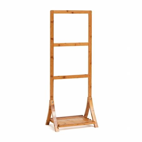 Bamboo Towel Stand Upright