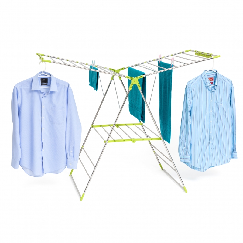 Clothes Airer Wide Stainless Steel