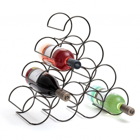 Wine Rack 10 Bottle Black Onyx