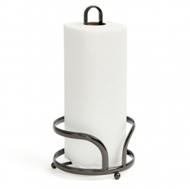 Paper Towel Holder with Base Black Onyx