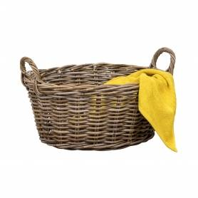 Rattan Laundry Basket Oval