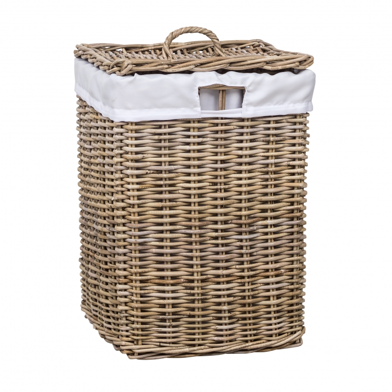 Rattan Laundry Hamper Square