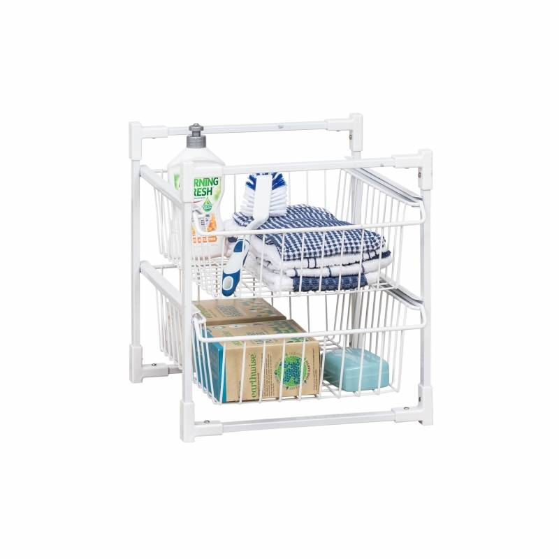 Basket Storage System 2 Tier 39.5x36.5x42cm