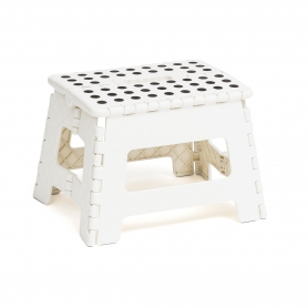 Folding White Step Stool
