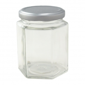 Glass Jar 180ml Hexagonal