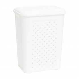 Hamper 50L White Pattern