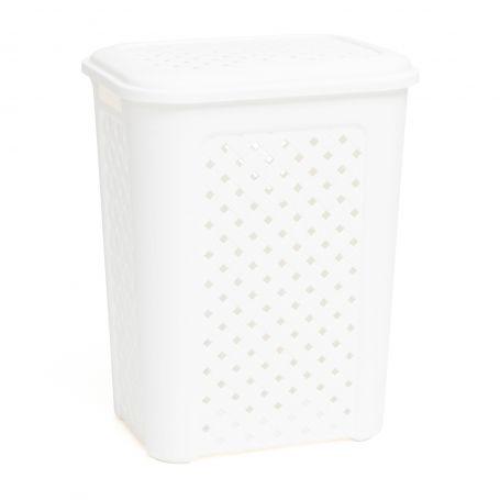 Hamper 50L White Pattern