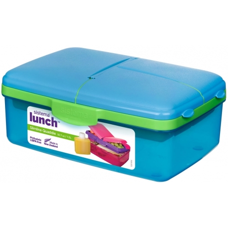 Sistema Lunch Box 1.5L Quaddie Slimline with Bottle