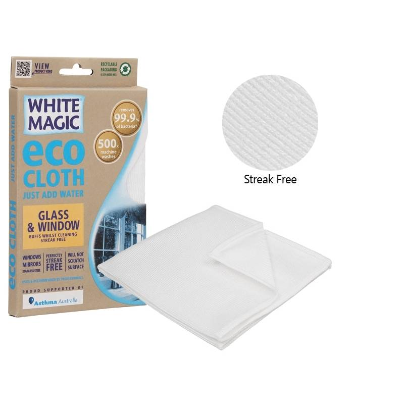Eco Cloth Window and Glass White Magic