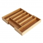 Bamboo Cutlery Tray Expandable