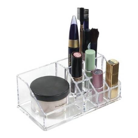 Cosmetic Orgainser 9 Compartments Acrylic