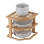 Plate Stand 3 Tier Bamboo LTW - 1