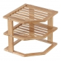 Plate Stand 3 Tier Bamboo LTW - 2