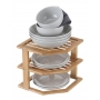 Plate Stand 3 Tier Bamboo LTW - 3