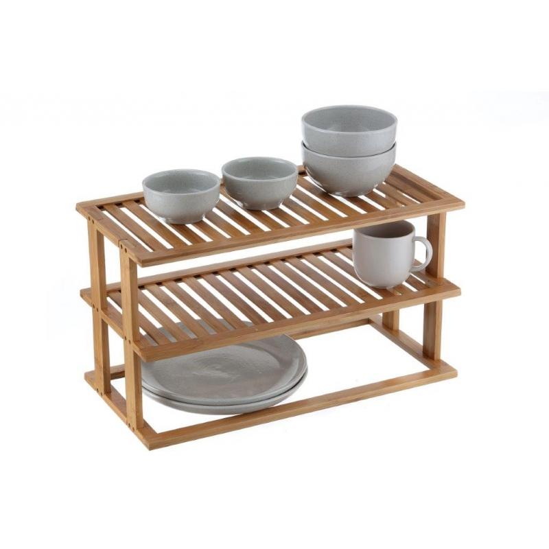 Pantry Shelf 2 Tier Bamboo