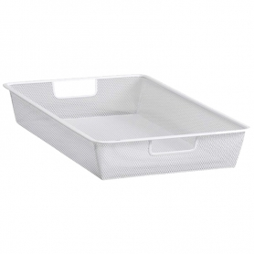 Elfa Mesh Drawer 1 Runner 35 White