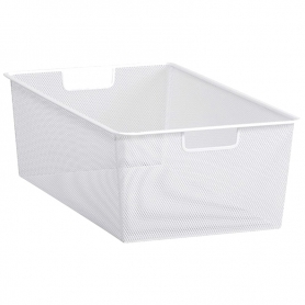 Elfa Mesh Drawer 2 Runner 35 White