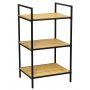 Shelf 3 Tier Black and Bamboo
