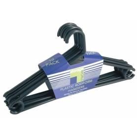 Plastic Rodform Coat Hanger 10Pack