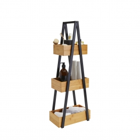 Bamboo 3 Tier A-Frame Caddy