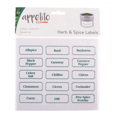 D.Line Herb & Spice Labels 45 Pack