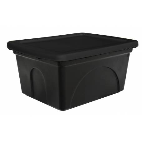 Fish Bin 50L Black with Lid